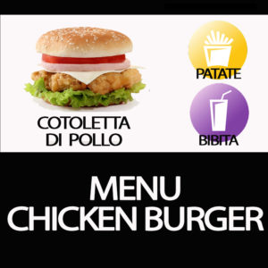 MENU CHICKEN BURGER