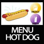 MENU HOT DOG